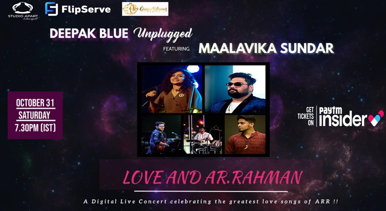 MAALAVIKA SUNDAR & DEEPAK BLUE LIVE CONCERT