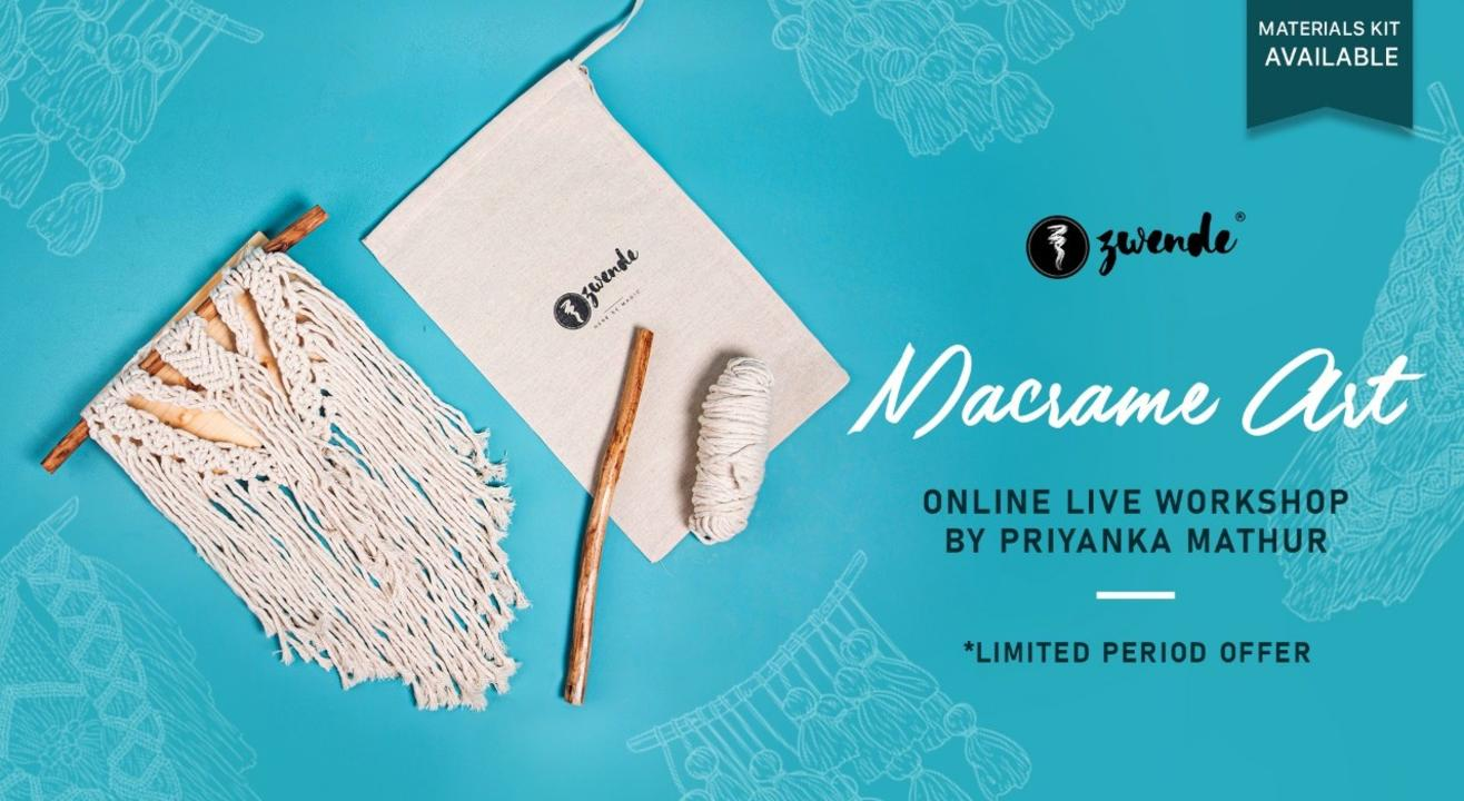 Macrame Art Online Live Masterclass (Material kit Available)