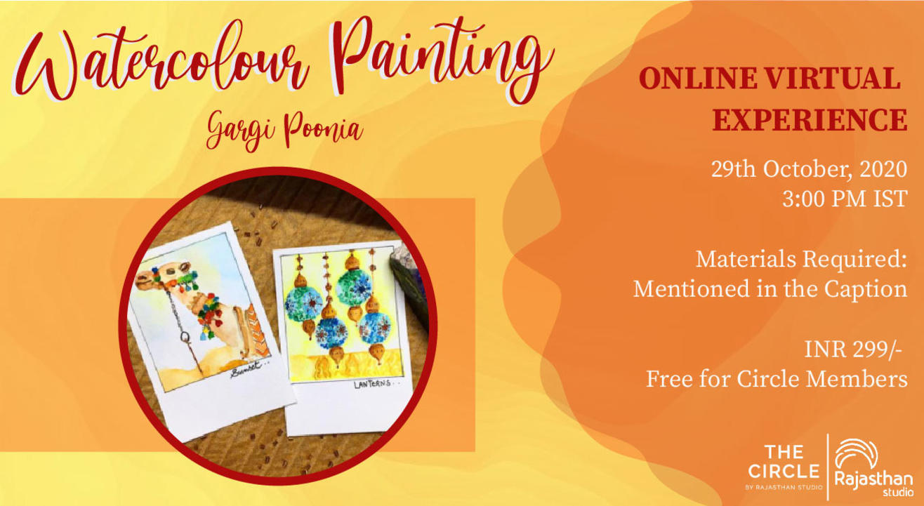 Watercolour Painting Workshop with Rajasthan Studio
