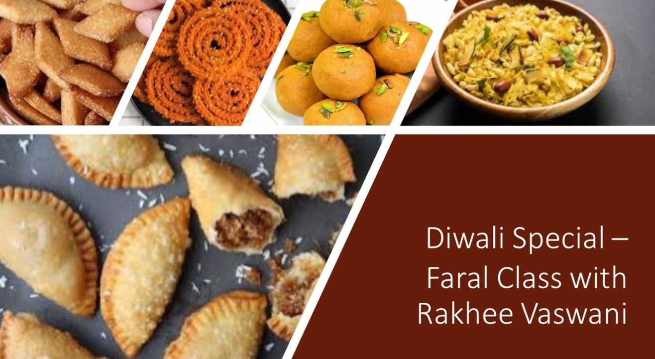 Diwali Special –  Faral Class with Rakhee Vaswani
