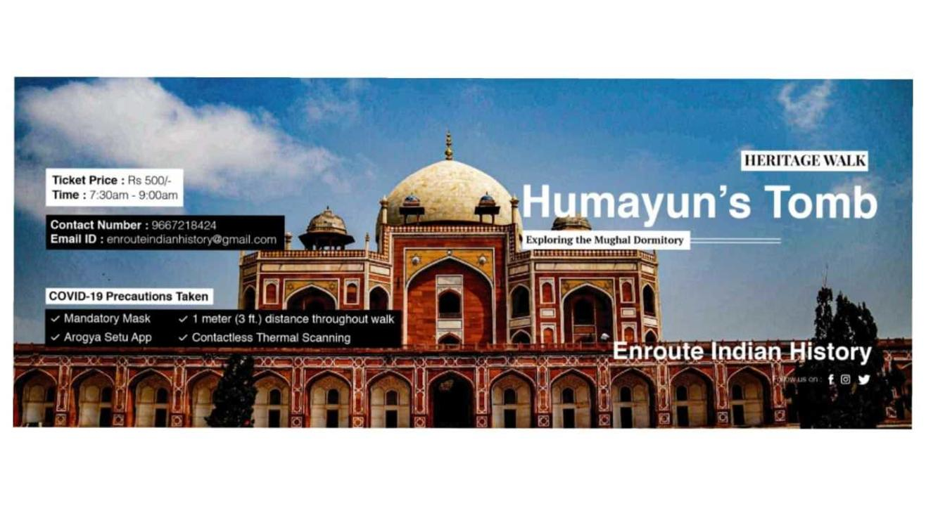 Exploring Dormitory of Mughals- Heritage Walk in Humayun's Tomb Complex