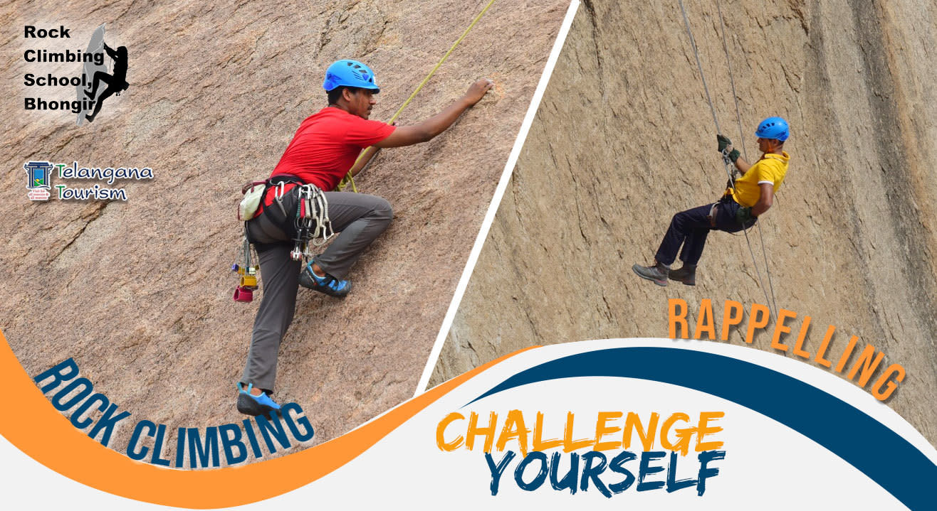 300Ft Rappelling And Heritage Hike To Bhongir Fort