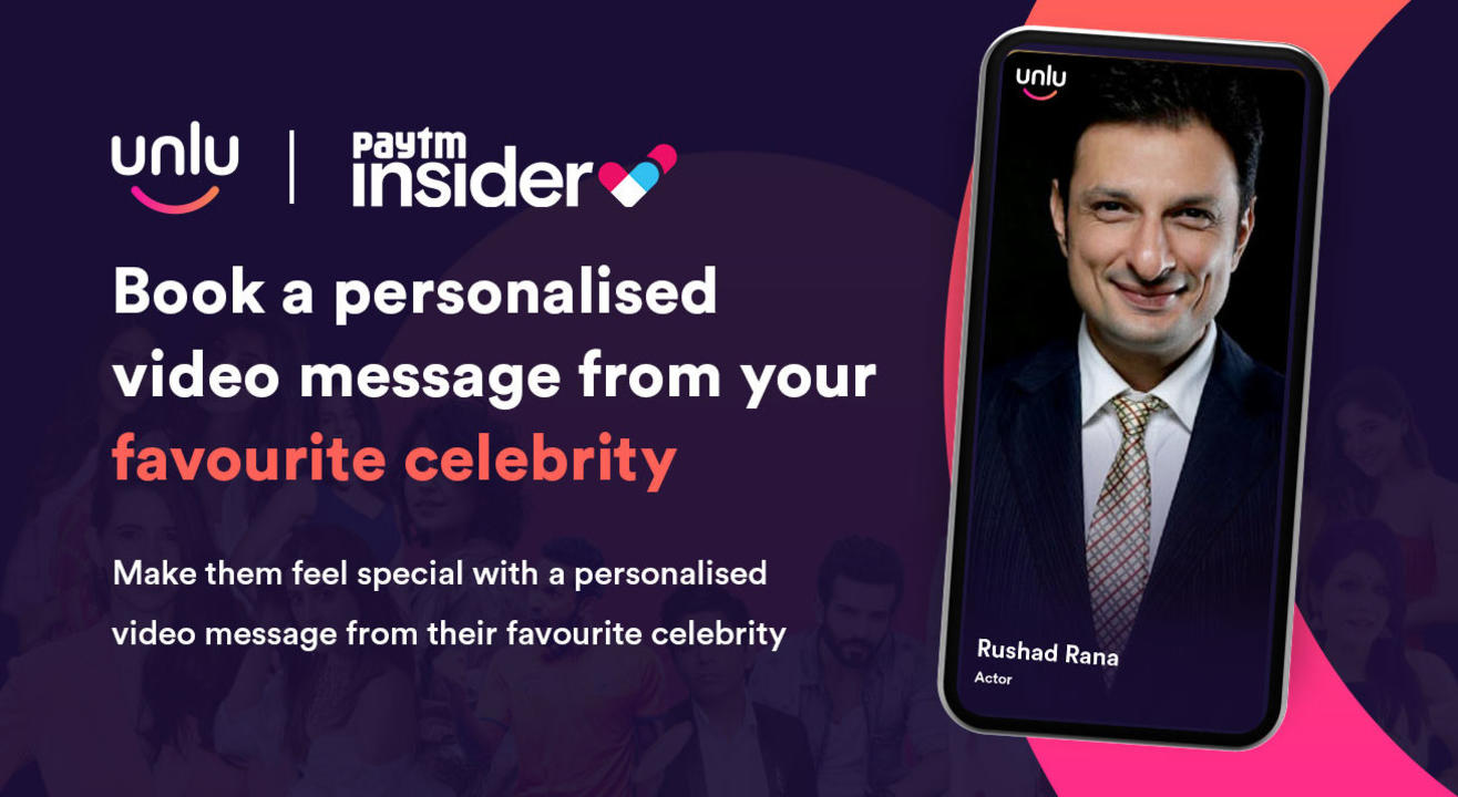 Book a personalised message from Rushad Rana