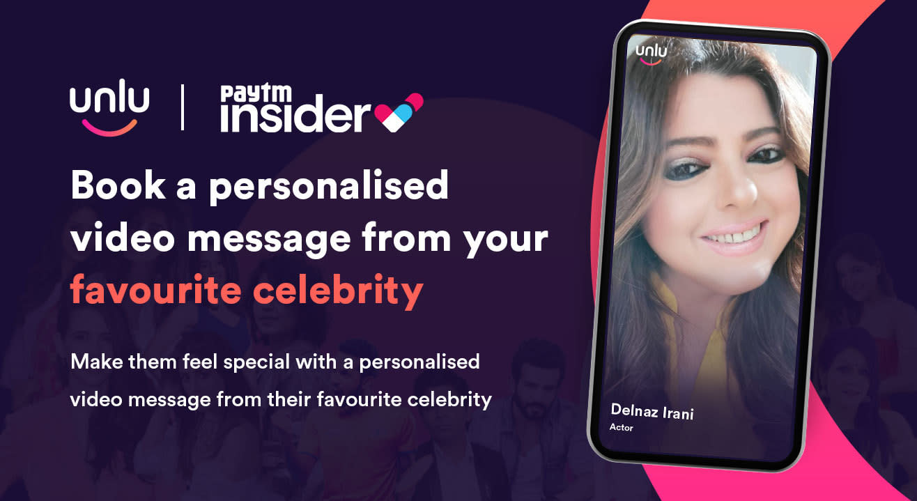 Book a personalised message from Delnaaz Irani