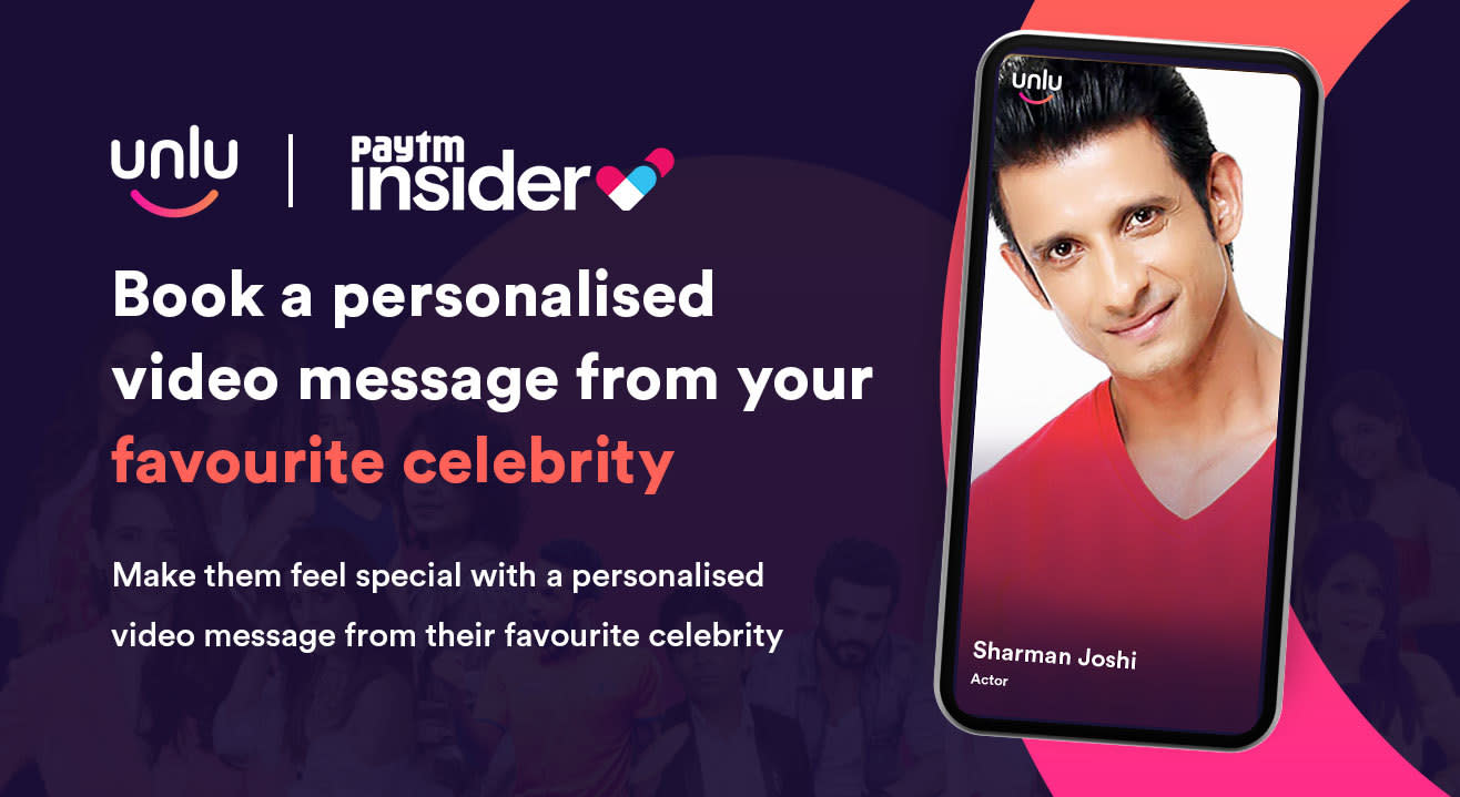 Book a personalised message from Sharman Joshi