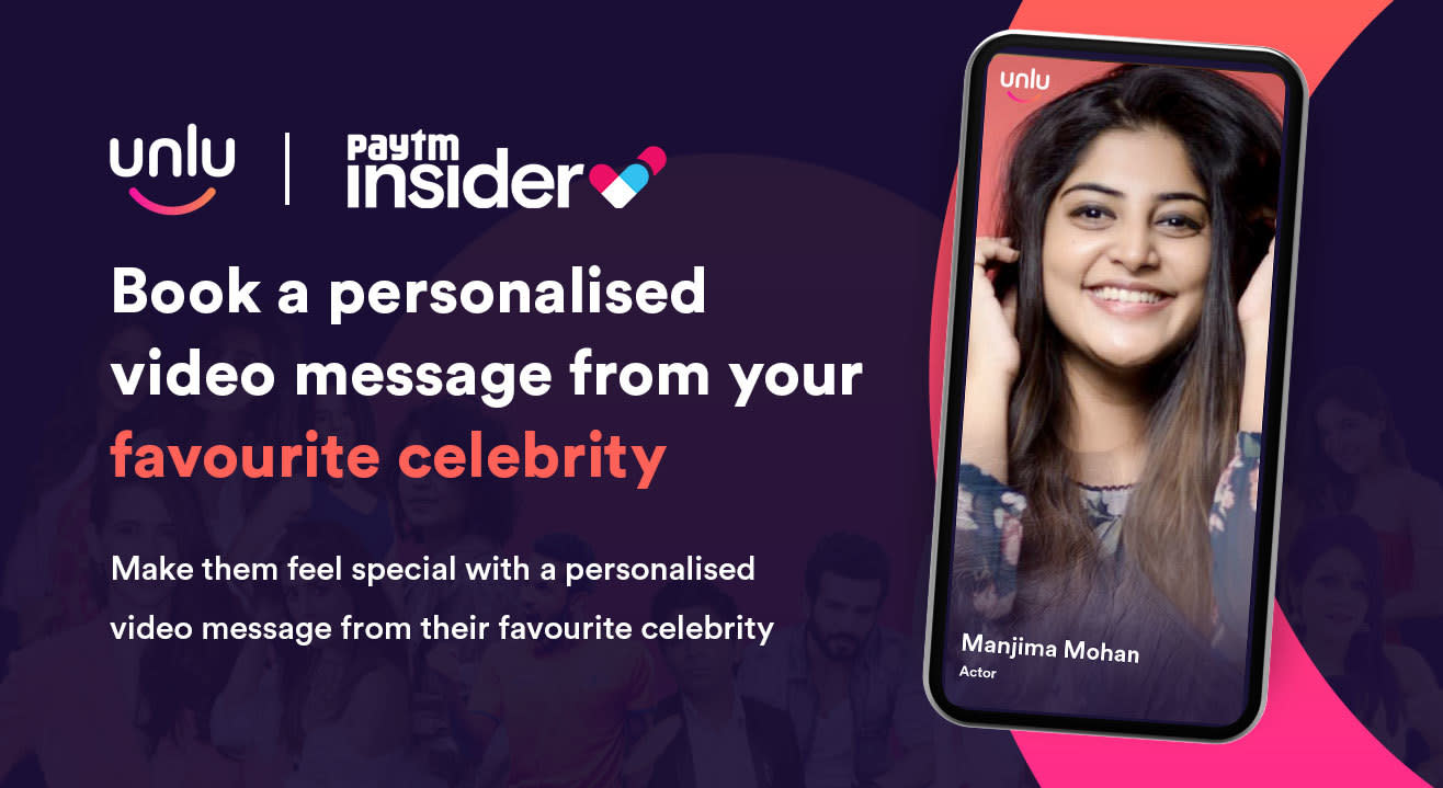 Book a personalised message from Manjima Mohan