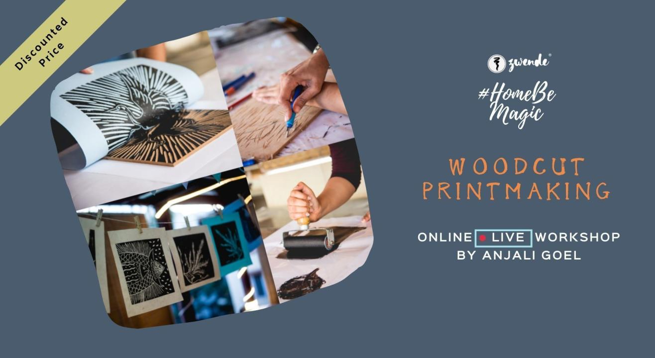 Woodcut Printmaking Online Live Workshop (Inclusive of Materials)