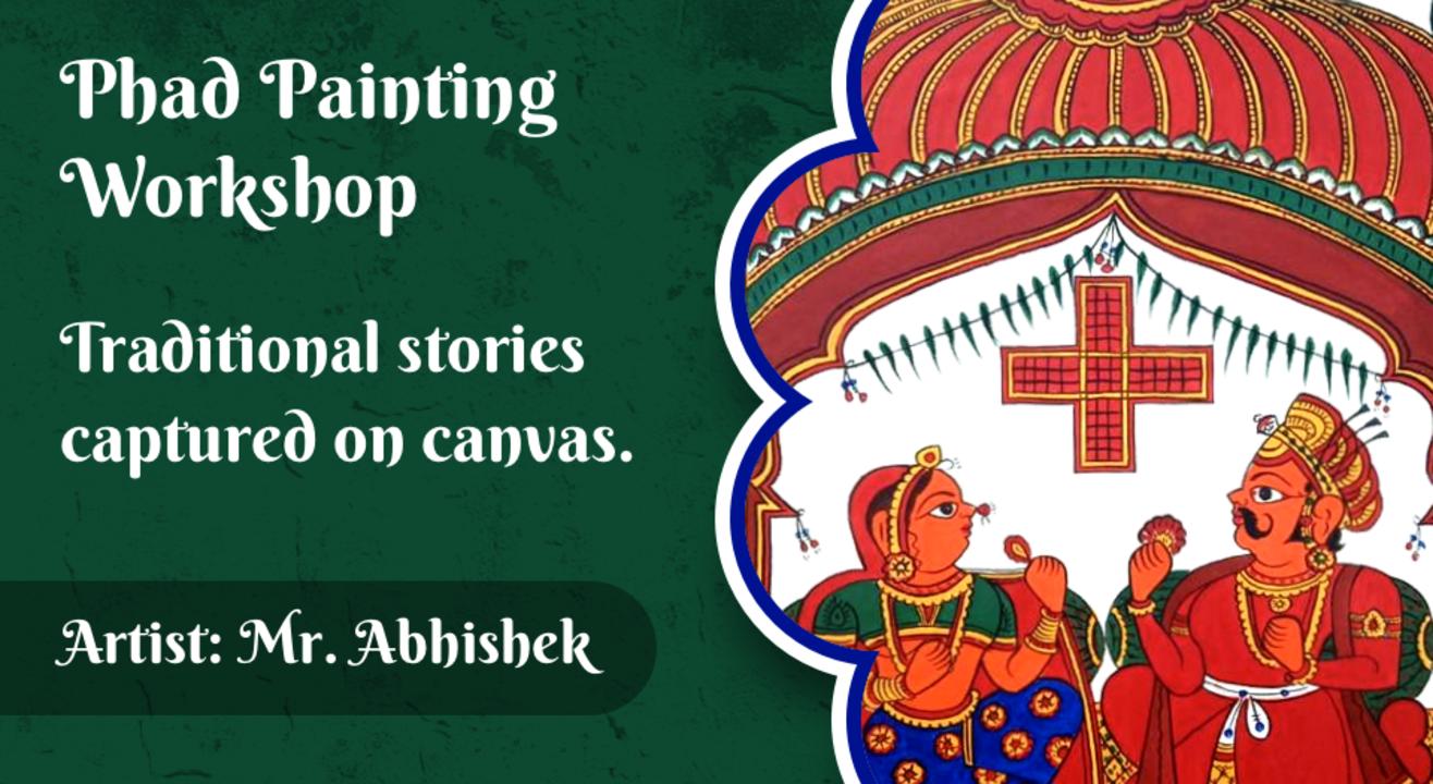 Phad Painting workshop with BAFA