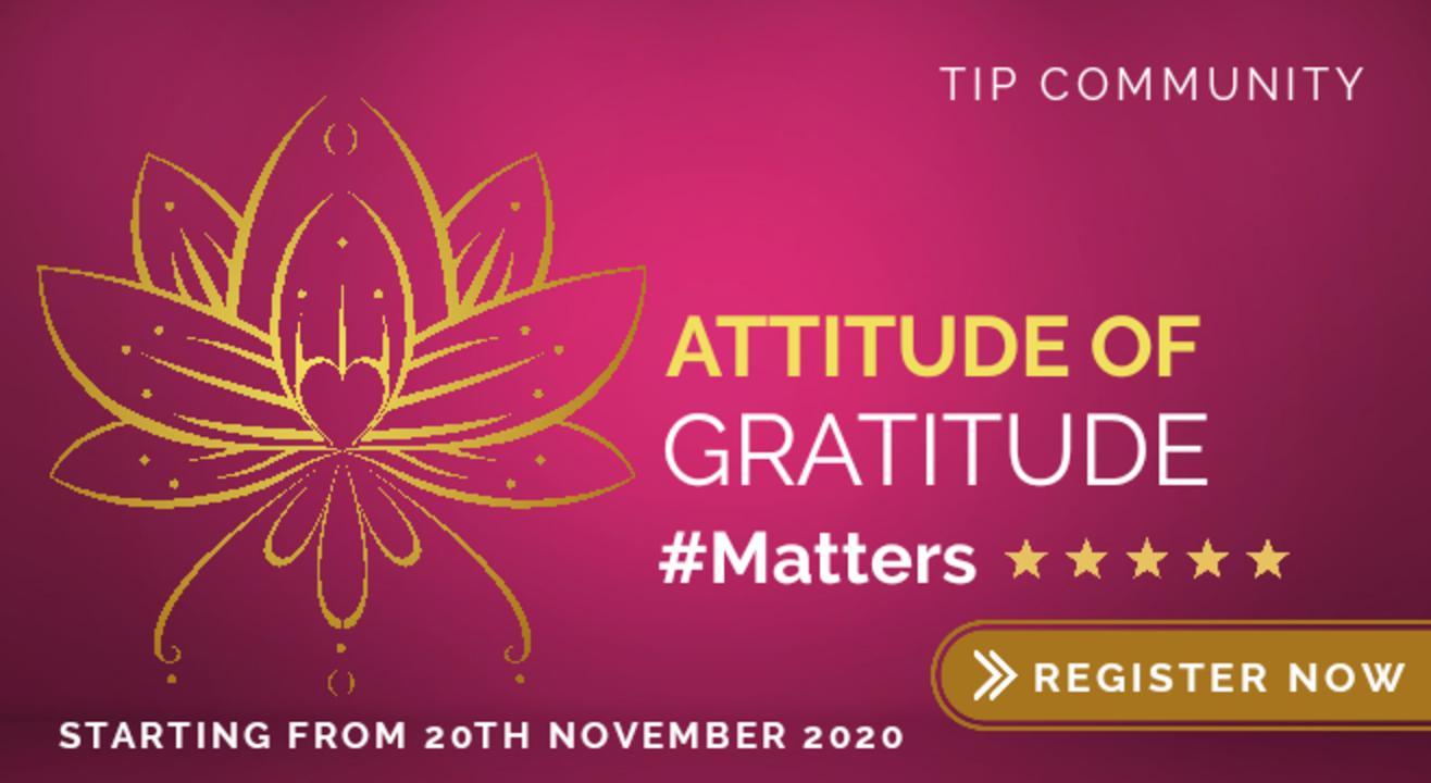 Attitude of Gratitude Matters | 30-Days Activity Workshop