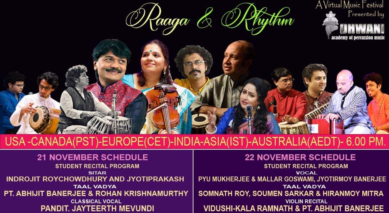 Raaga & Rhythm - A virtual Indian Classical Music Concert (ONLINE)