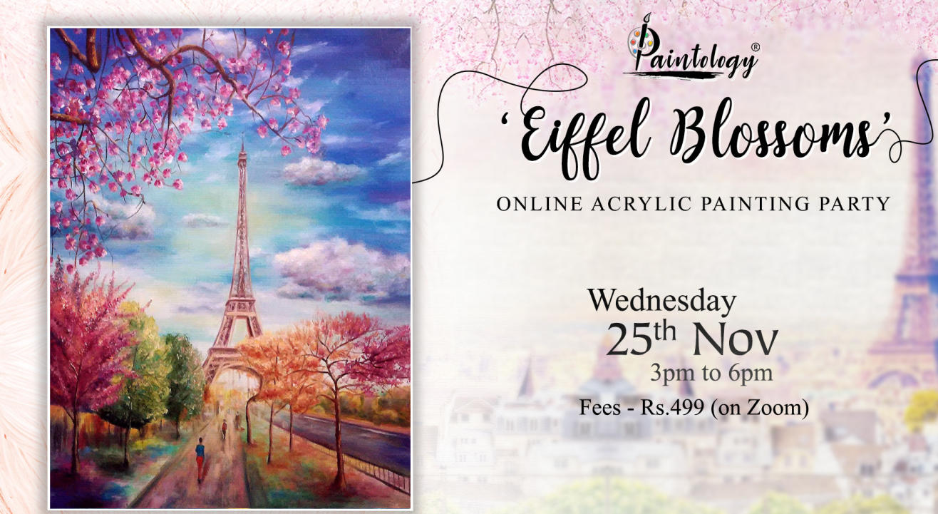 'Eiffel Blossoms' Painting Party by Paintology