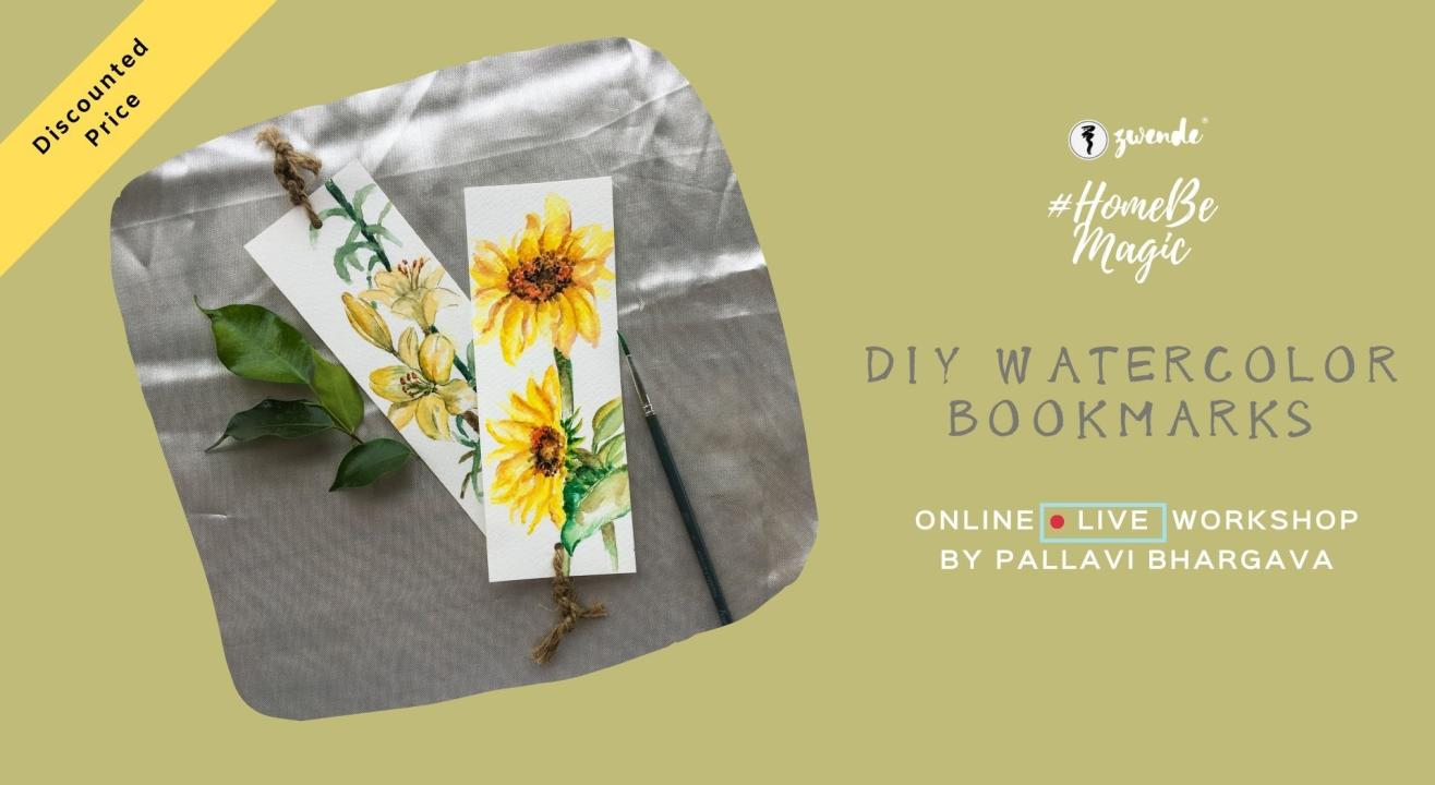 DIY Watercolor Bookmarks Online Live Workshop