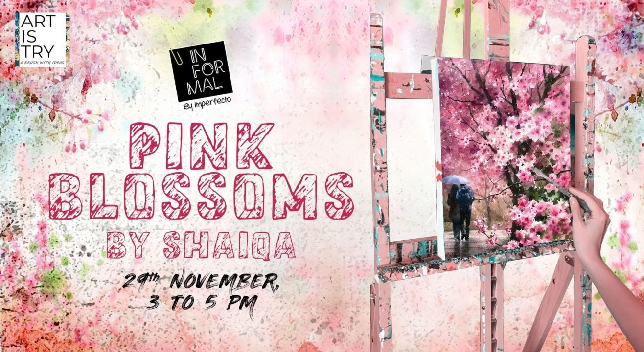 Pink Blossoms Painting Party