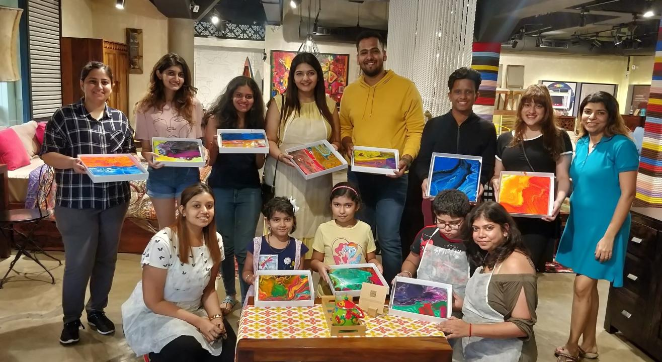 Fluid Art workshop with KIT, by Impressions Art