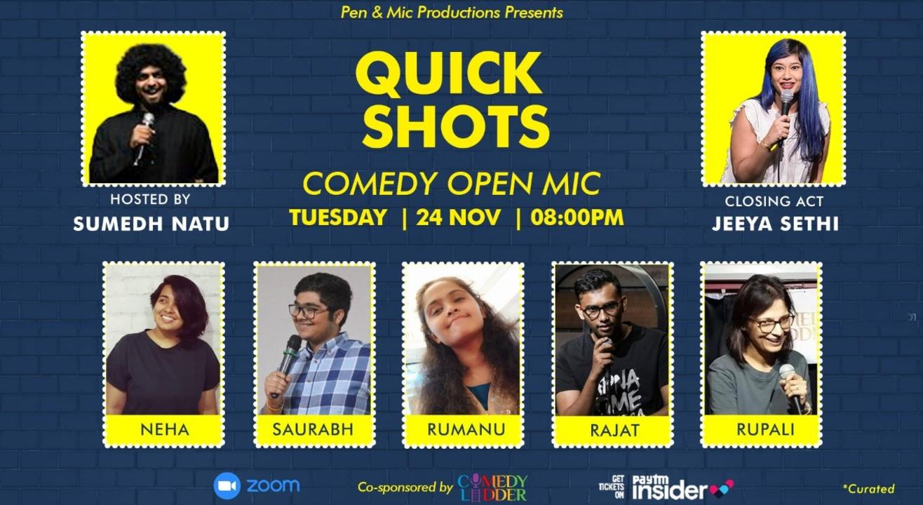 Quick Shots: Comedy Open Mic