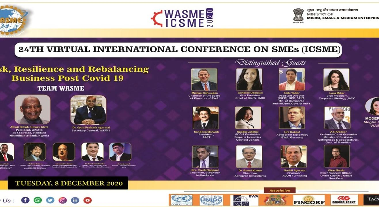 24TH INTERNATIONAL CONFERENCE FOR SMEs (ICSME)