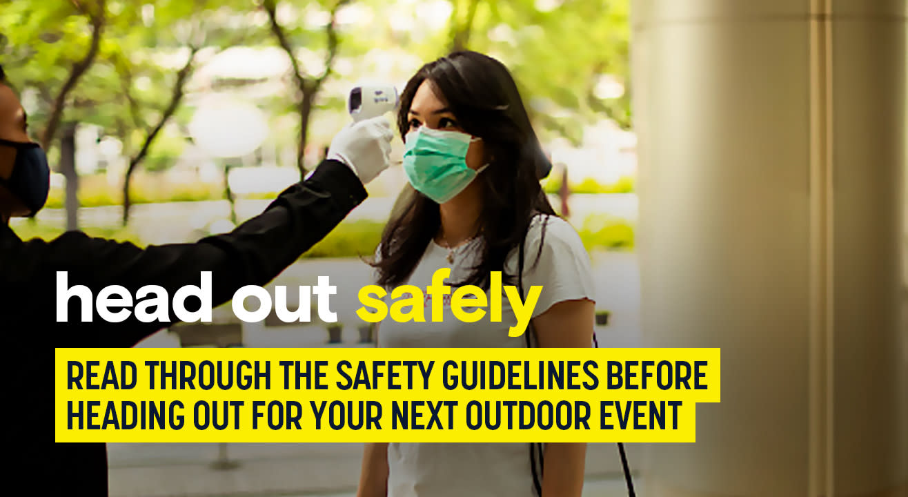 Stepping out to attend an event? Read through these safety guidelines.