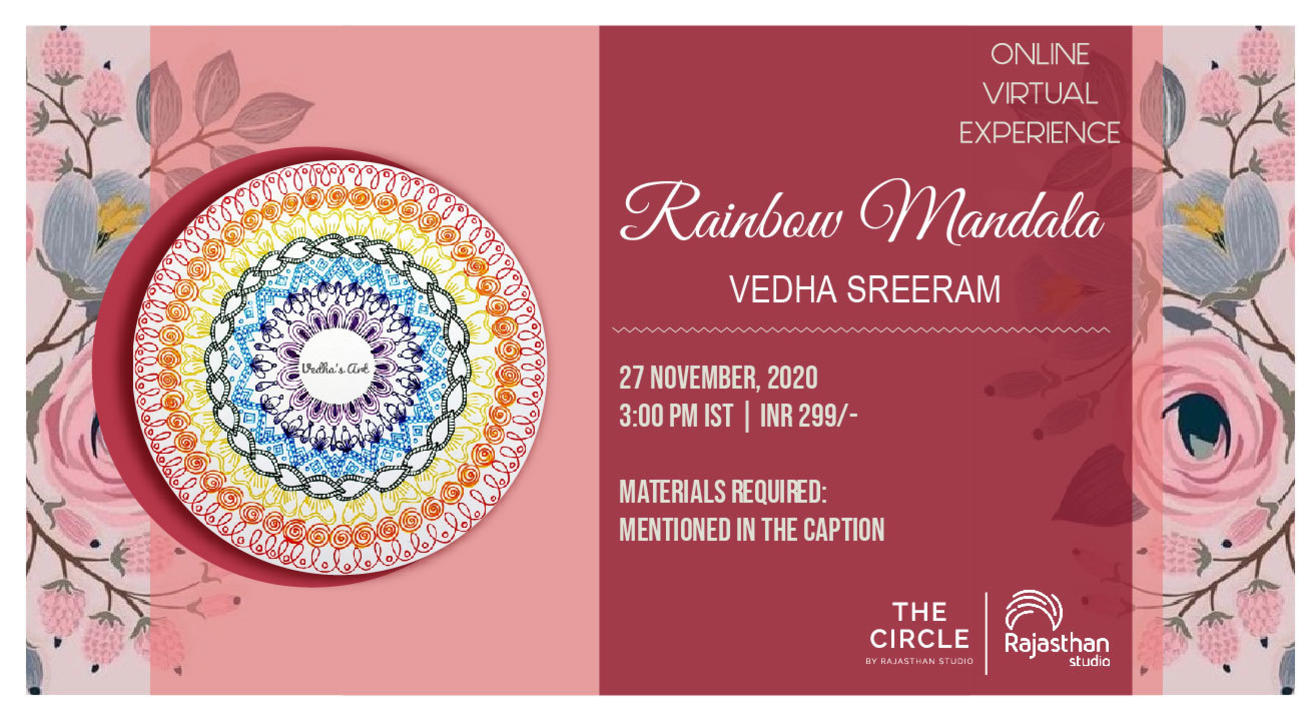 Rainbow Mandala with Patterns Workshop by Rajasthan Studio