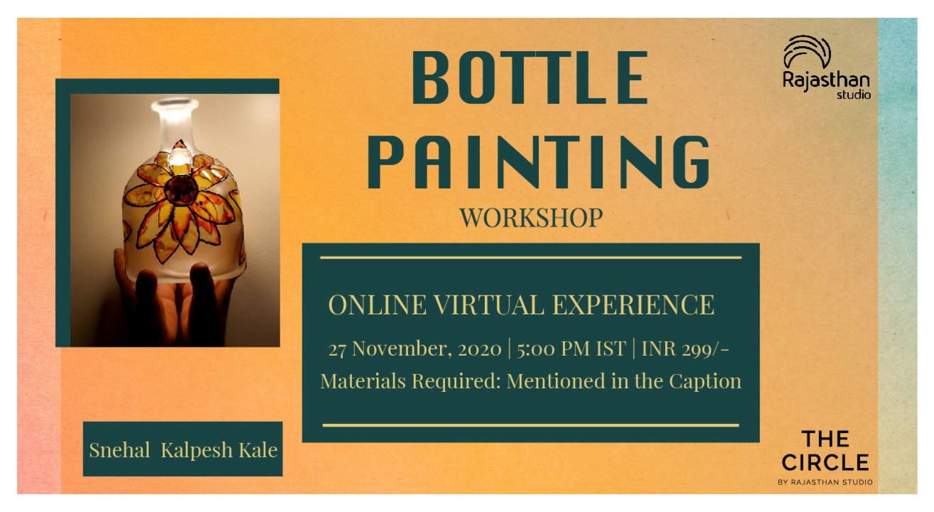 Bottle Painting Workshop by Rajasthan Studio