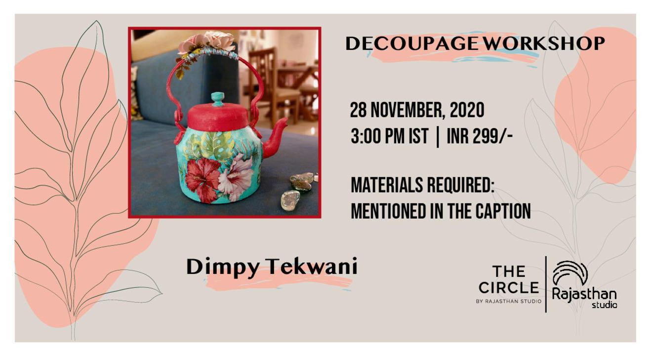 Decoupage Workshop by Rajasthan Studio