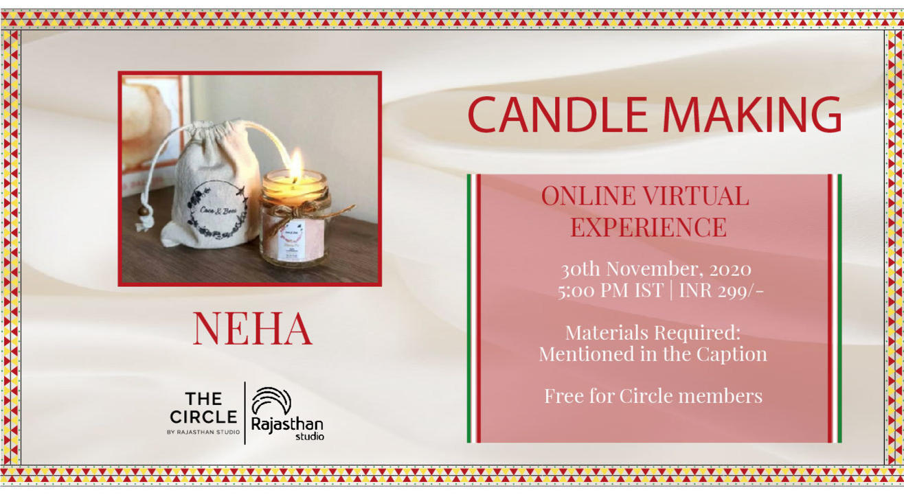 Candle Making Workshop by Rajasthan Studio