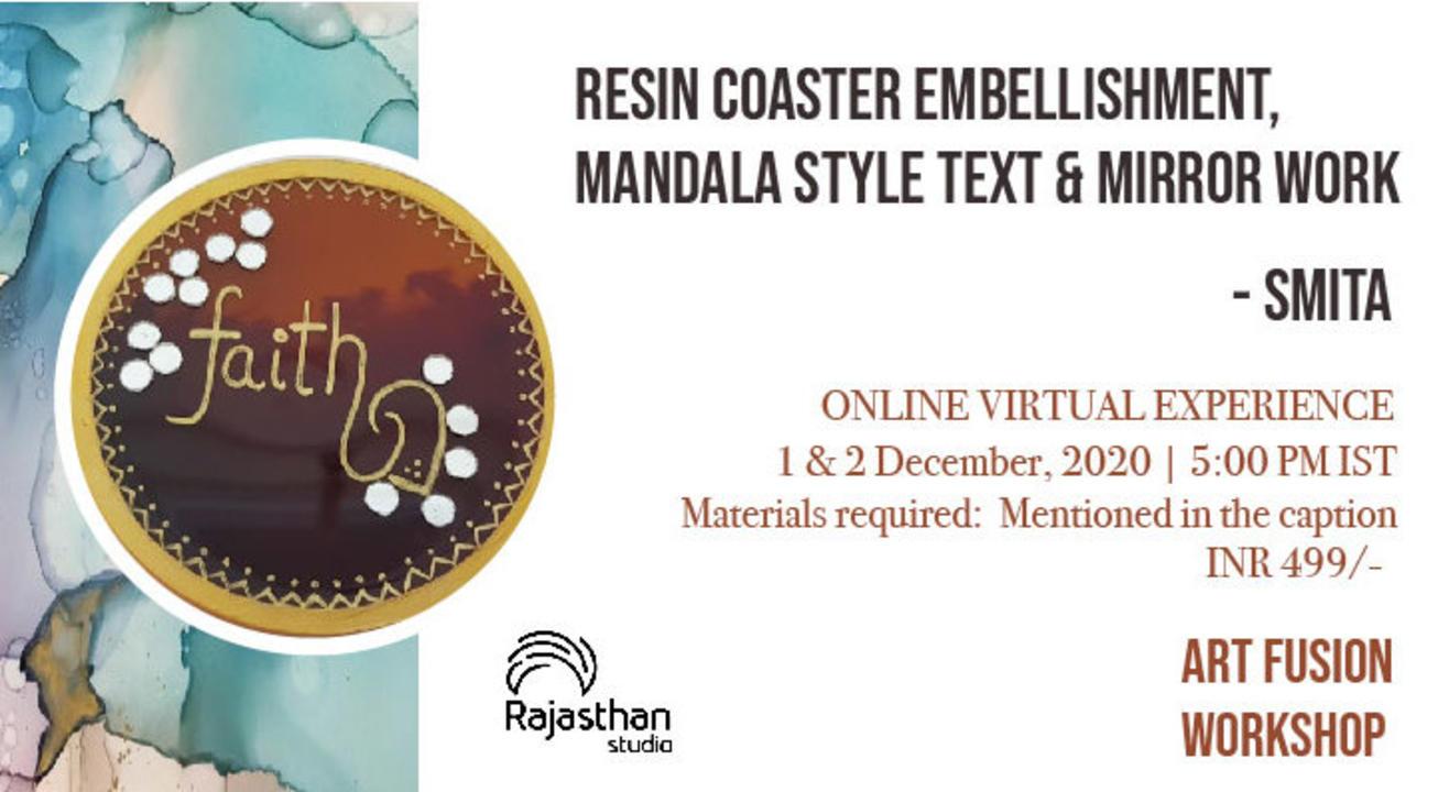 Resin Coaster Embellishment Workshop by Rajasthan Studio