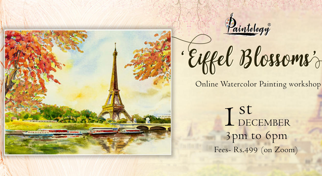 'Eiffel Blossoms' Painting workshop by paintology