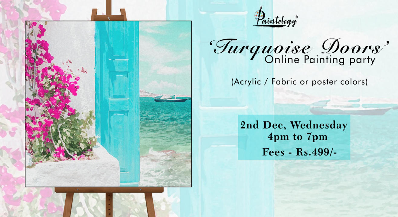 'Turquoise Doors' Painting Party by paintology