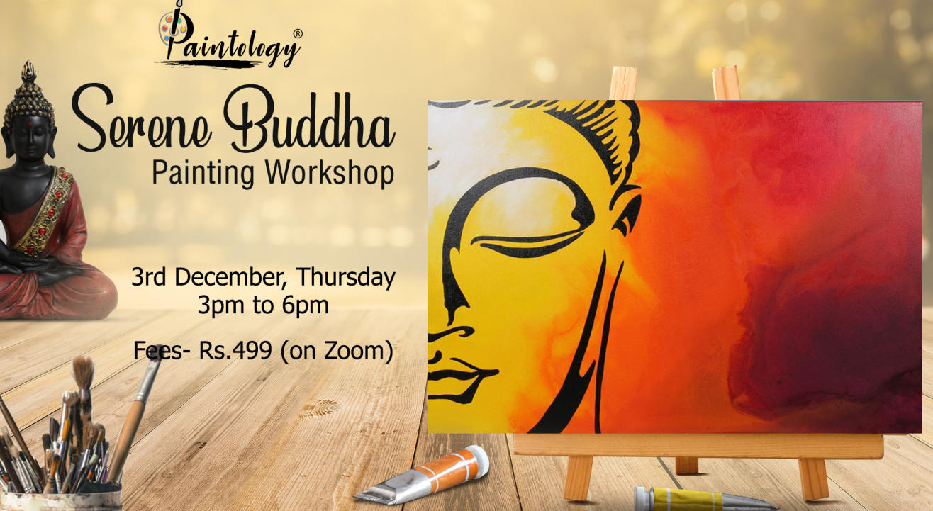 'Serene Buddha' Painting party by Paintology