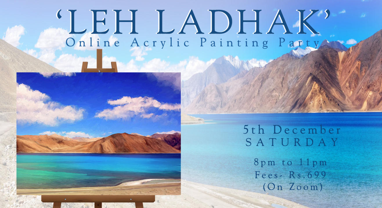 'Leh Ladhakh' Painting party by Paintology