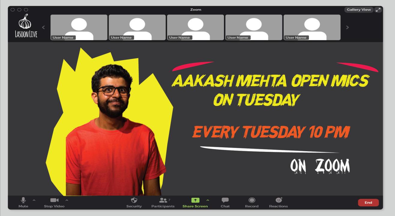 Aakash Mehta's Open Mic On Tuesday