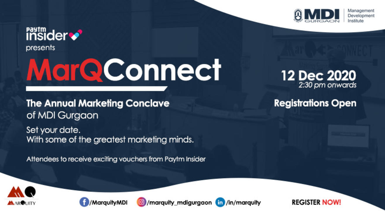 MarQConnect - The Annual Marketing Conclave of MDI Gurgaon