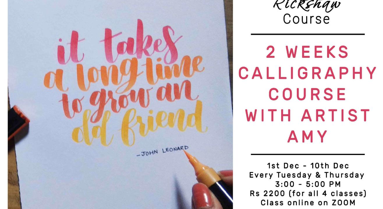 4 - Day Calligraphy Course with Amy