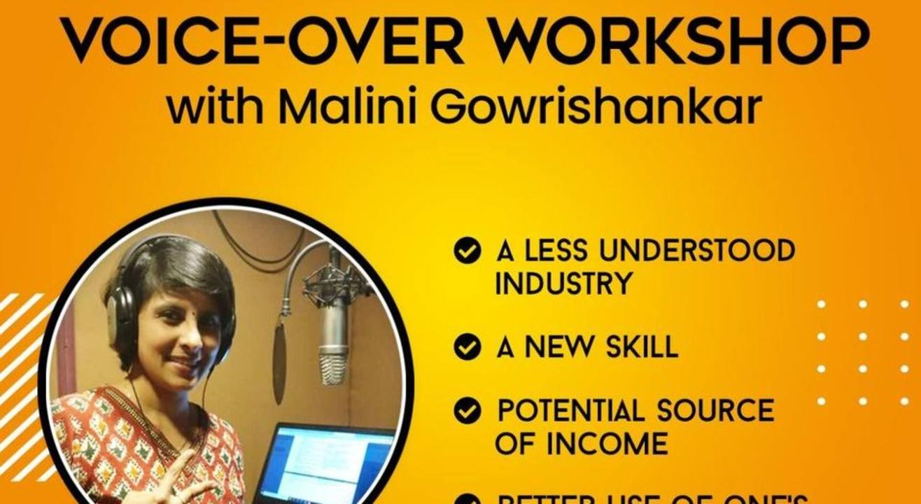 Online Voice-Over Workshop with Malini Gowrishankar