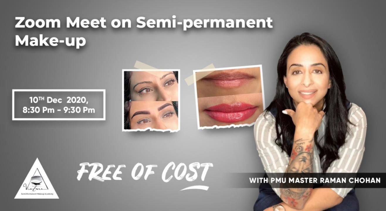 Zoom meetup on Semi-permenant makeup