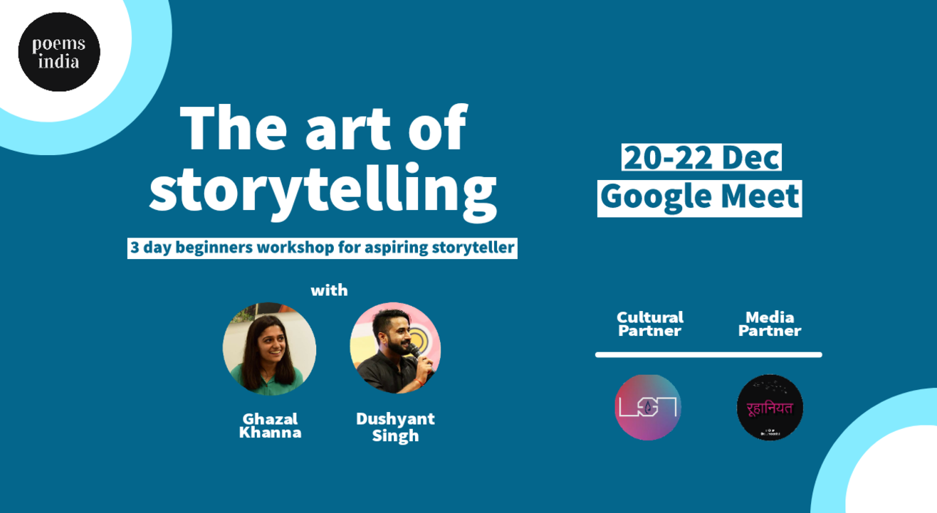 The Art Of Storytelling - 3 Day Beginners Workshop + Competition