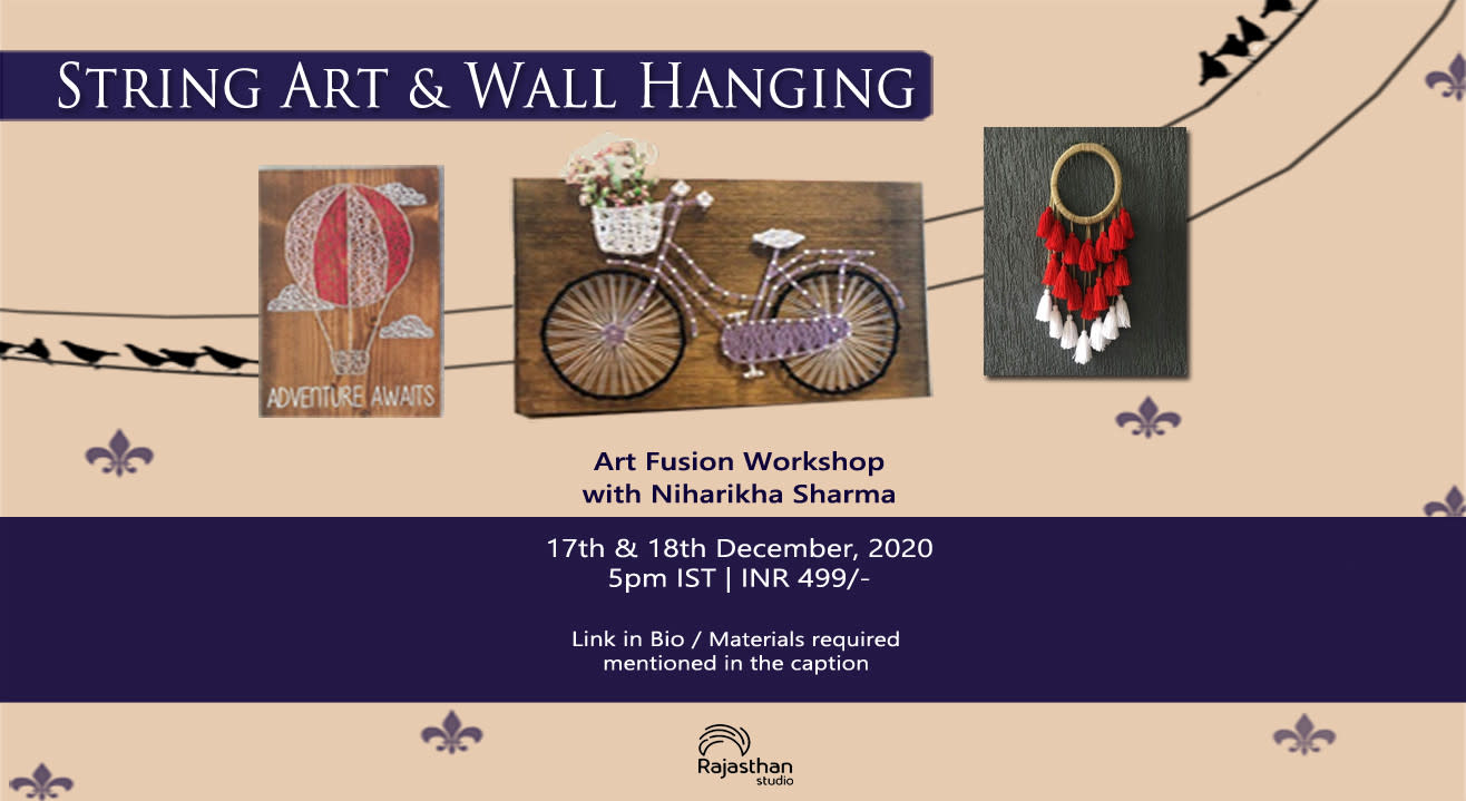 String Art and Wall Hanging Workshop By Rajasthan Studio