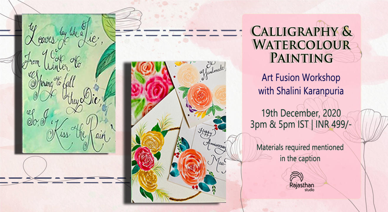 Calligraphy with Water colour Painting Workshop By Rajasthan Studio