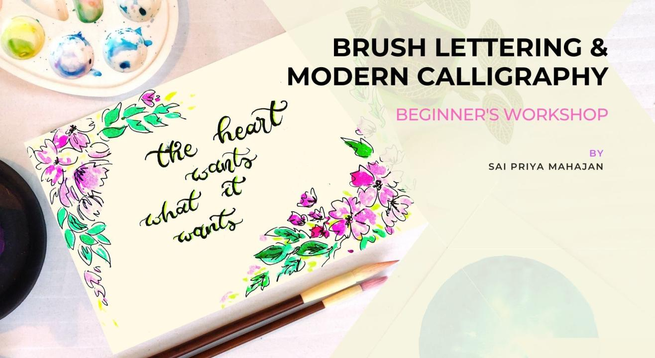 Modern Calligraphy & Brush Lettering Workshop including Practice Sheets