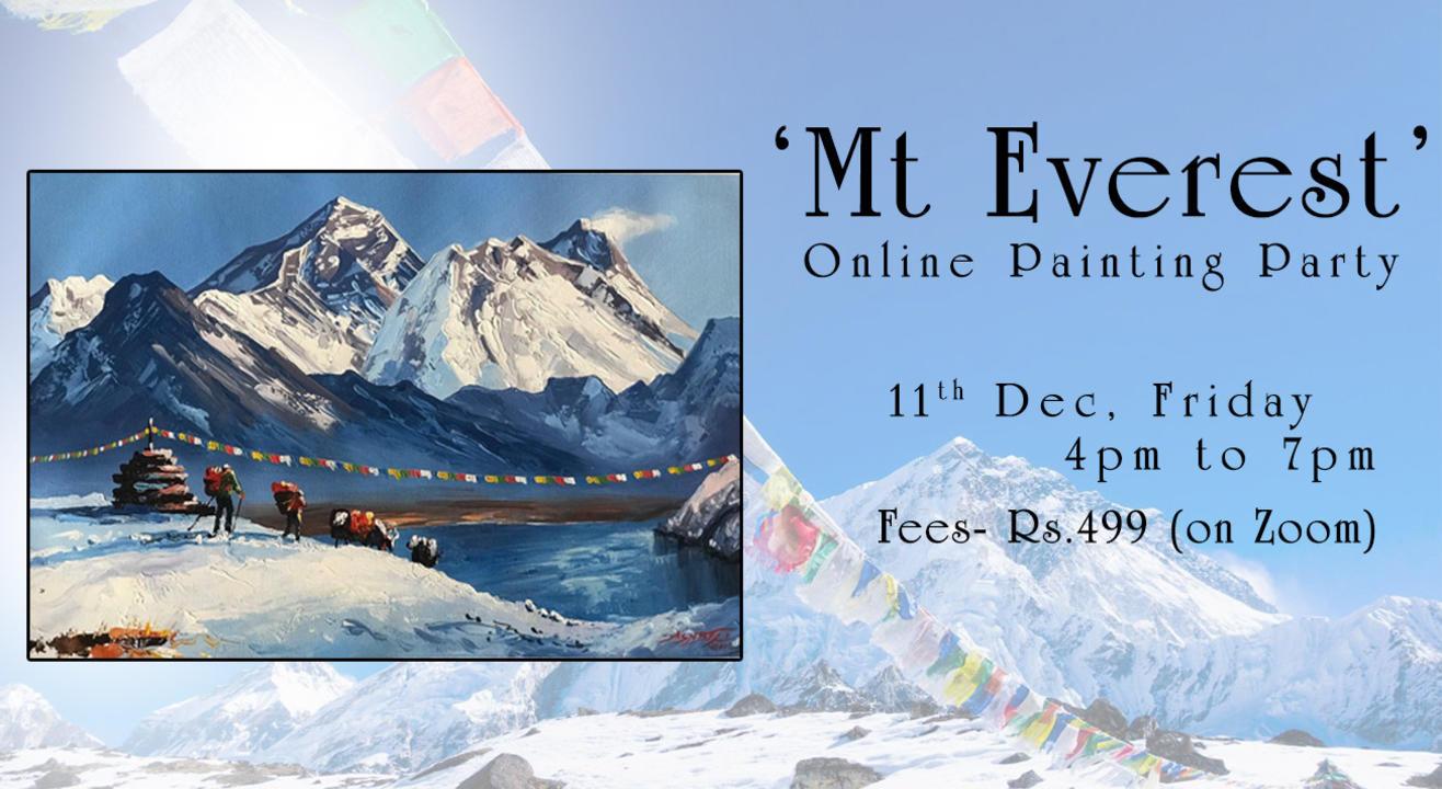 'Mt Everest' Online Painting workshop