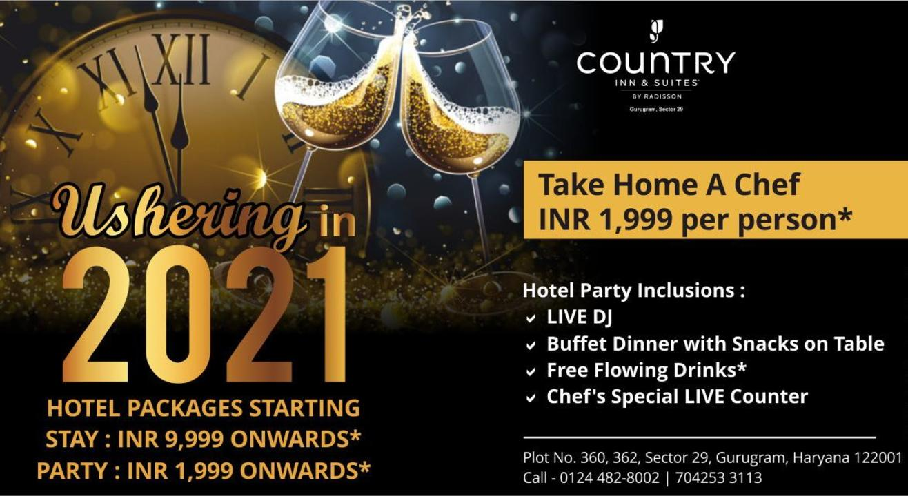 New Year's Celebration 2021 @ Country Inn & Suites By Radisson Gurugram