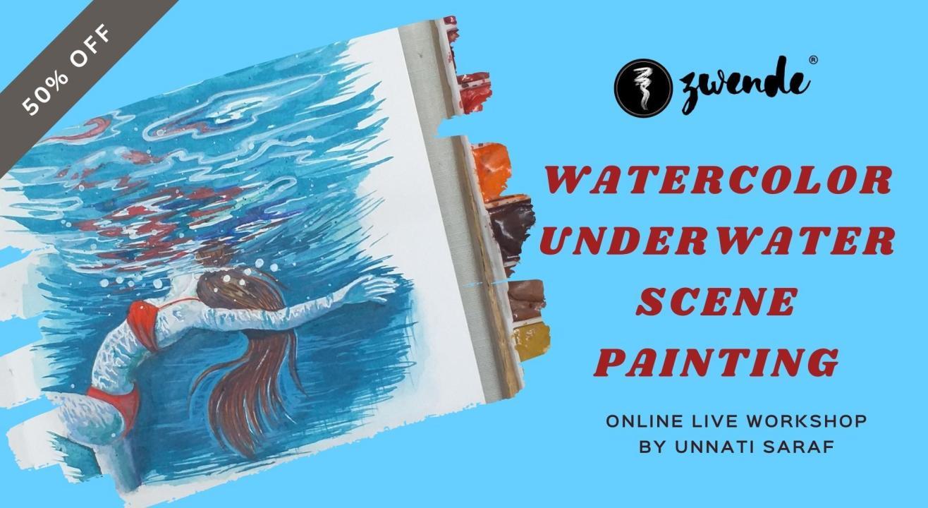Watercolor Underwater Scene Painting [Online Live Workshop]