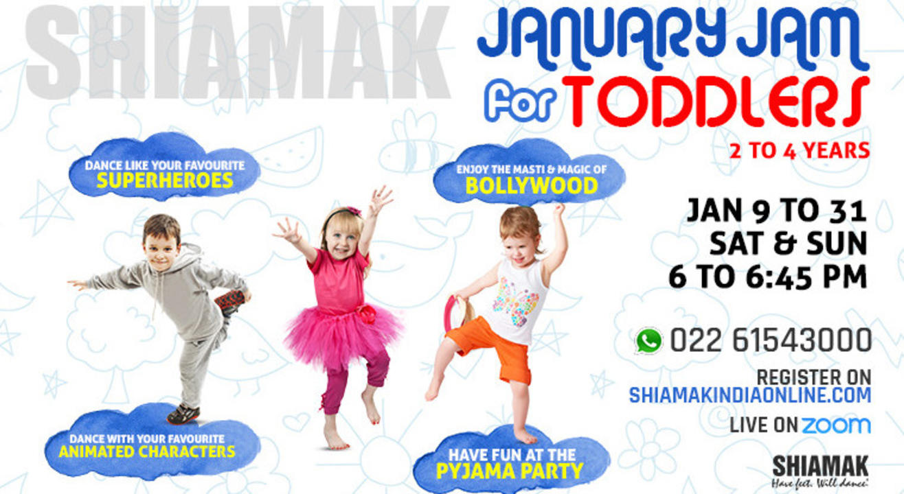 January Jam for Toddlers (2 to 4 years) - Online dance classes