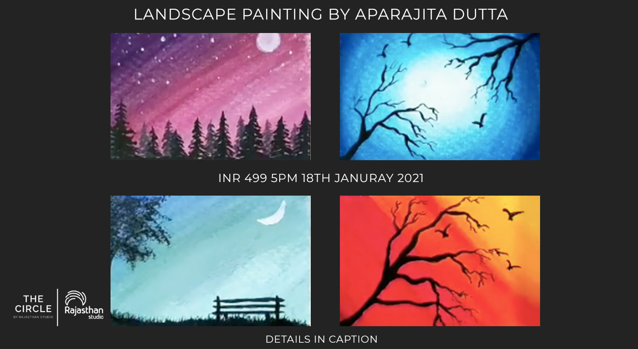 Types of silhouette landscapes Workshop by Rajasthan Studio