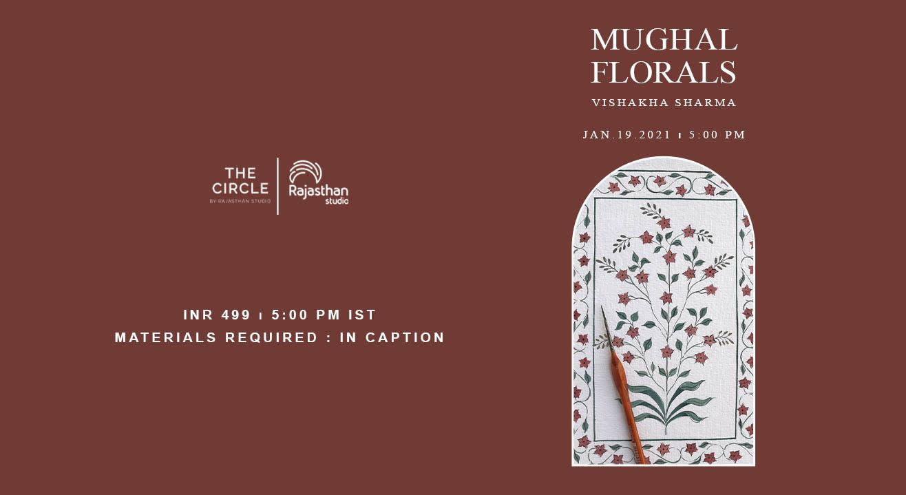 Mughal Floral Art Workshop by Rajasthan Studio