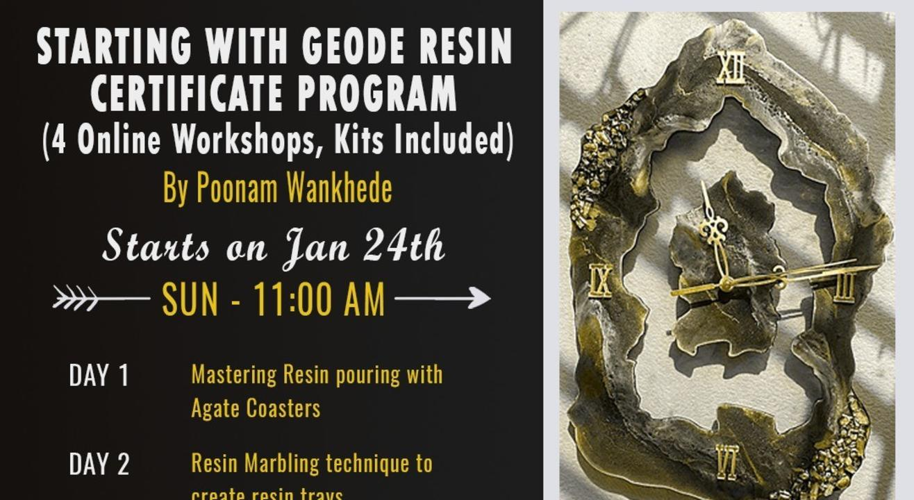 Starting with Geode & Resin - 4 week Certificate Program (Kits Provided)