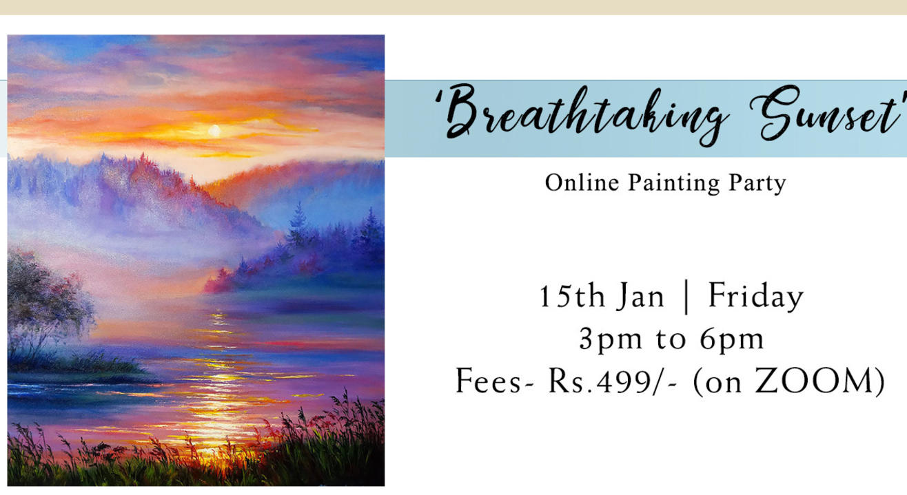 'Breathtaking Sunset' Painting Party by Paintology