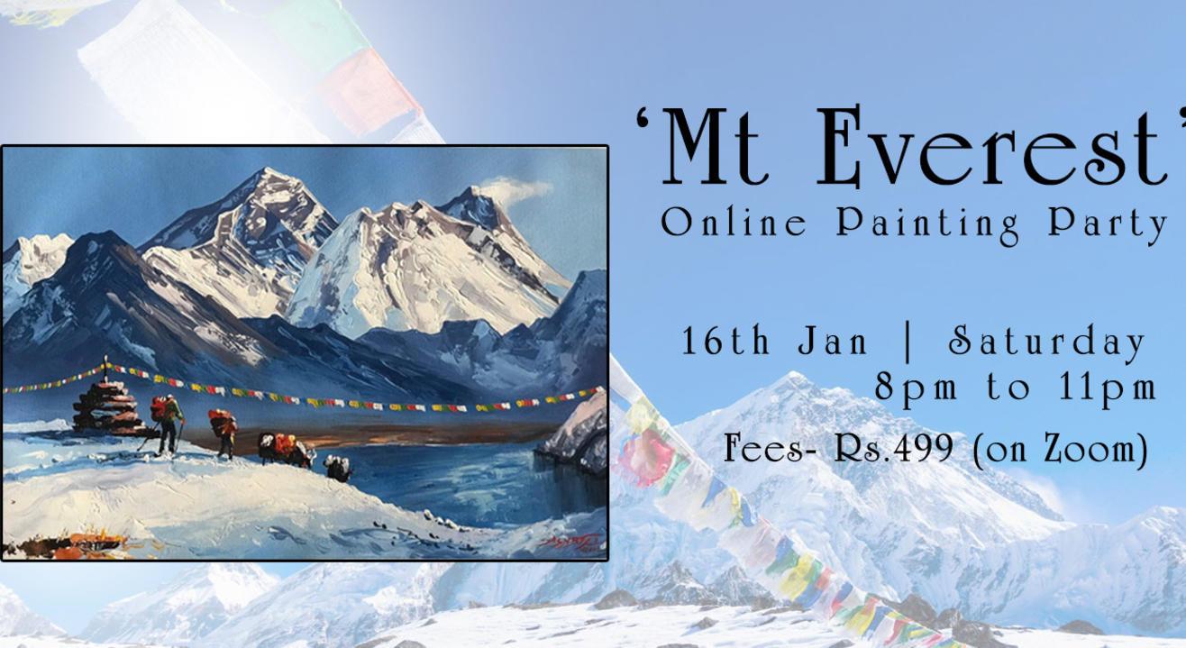 'Mt Everest' Painting workshop by Paintology