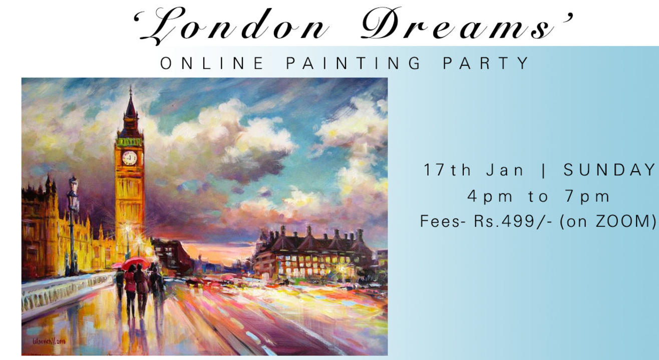 'London Dreams' Online Painting Party