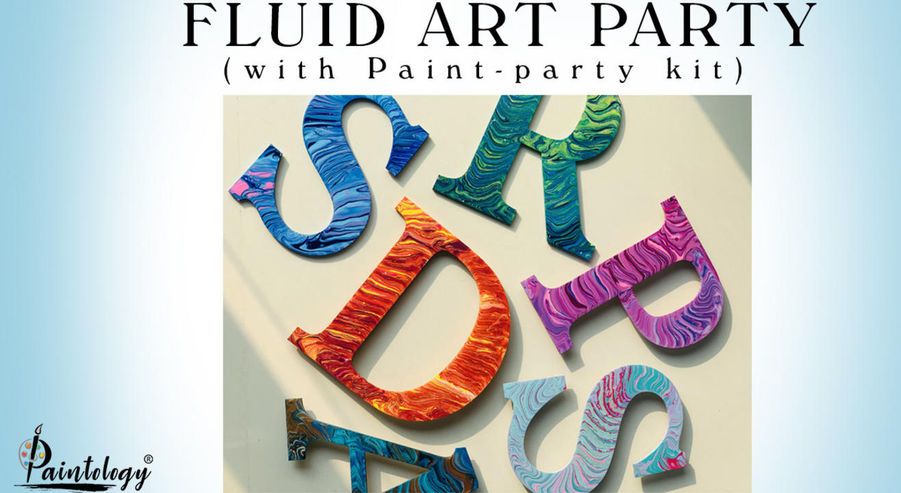 23rd Jan – Fluid art party with kit